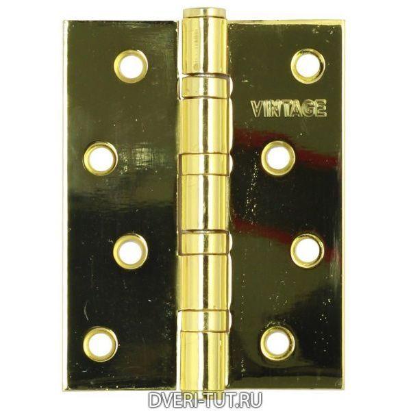 Петля  универсальная Vintage 4BB-PB 100*75*3 золото