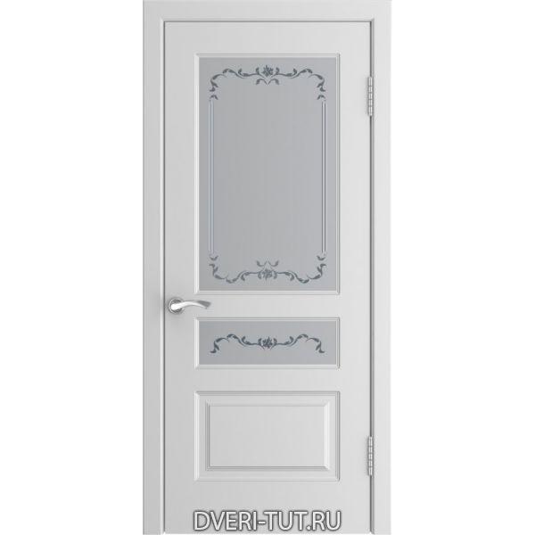 Дверь L-2 ДО с покрытием эмаль белая (со стеклом)