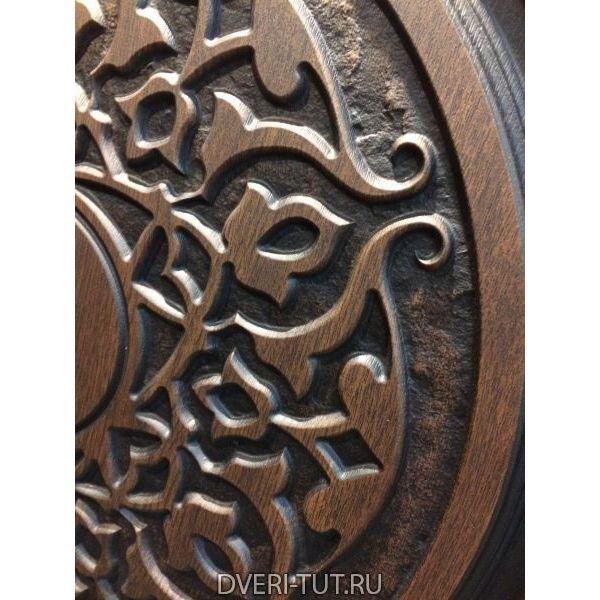 Дверь Leo «Лео» Дуб золотой-белый с патиной золото/серебро
