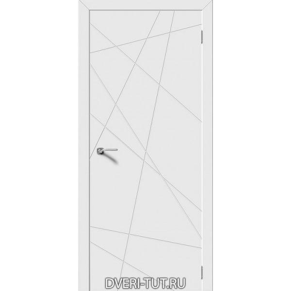 Дверь Line ДГ (глухая) с покрытием эмаль белая