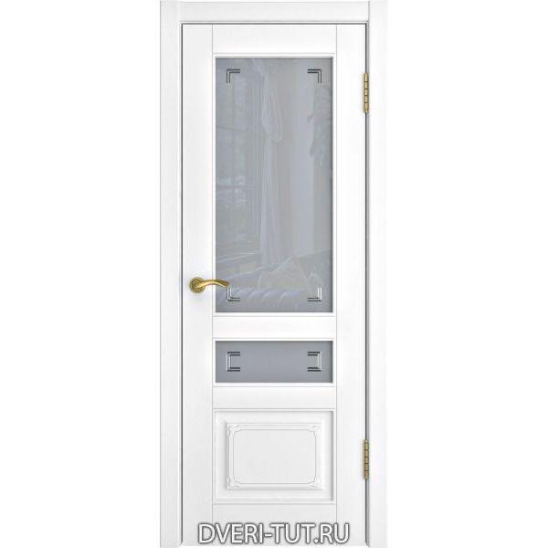 Дверь L-4 ДО (со стеклом) с покрытием эмаль белая