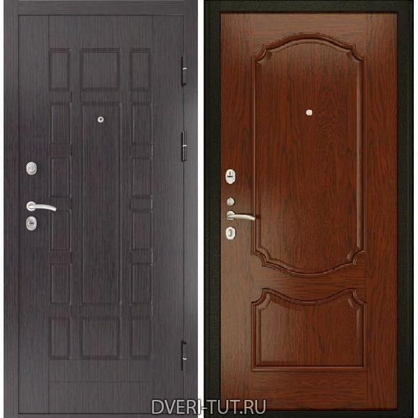 Дверь ТУТ-5 с панелями натуральный шпон дерева под межкомнатные двери Luxor