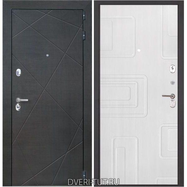Входная металлическая дверь Сенатор лучи венге-беленый дуб