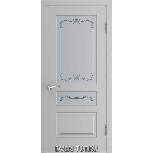 Дверь L-2 ДО (со стеклом) с покрытием эмаль манхэттен