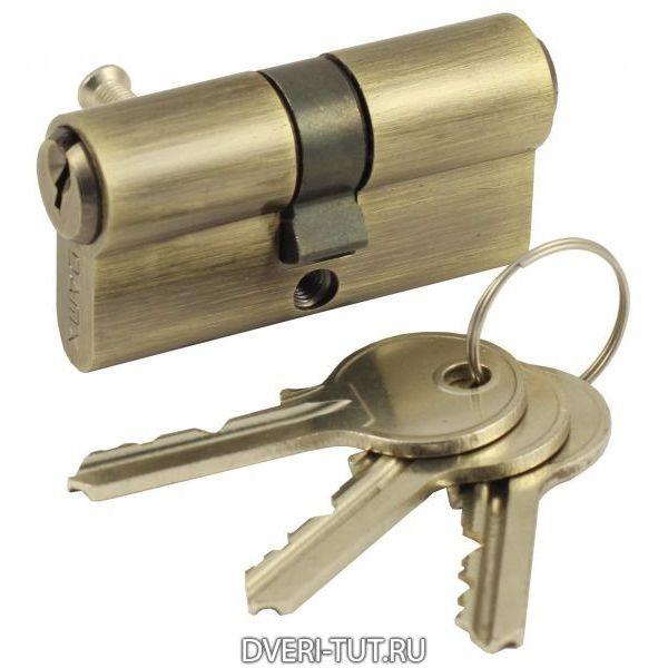 Цилиндр ключ-ключ Vintage V60-3AB бронза