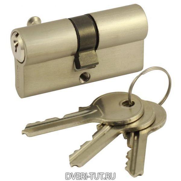 Цилиндр ключ-ключ Vintage V60-3SN матовый никель
