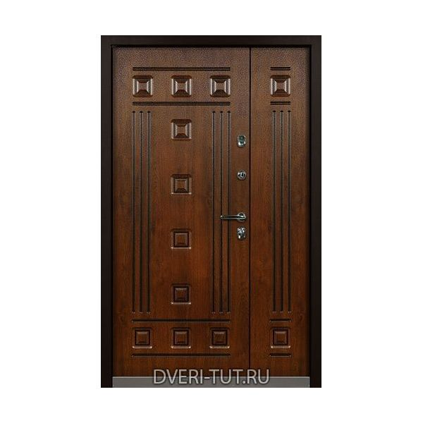 Двупольная дверь Elite (Элит) дуб темный - дуб темный