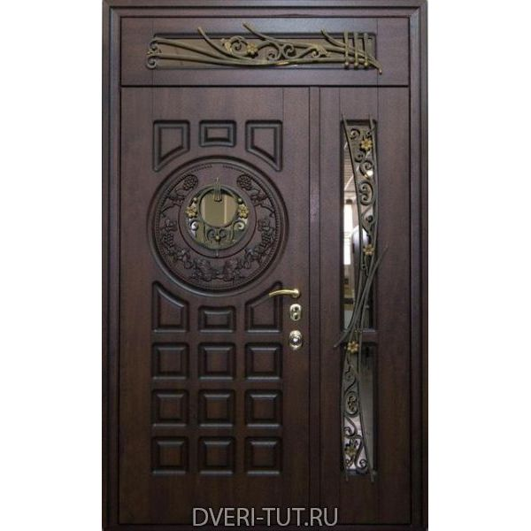 Двупольная дверь с фрамугой Lisboa (Лиссабон)  для коттеджей.