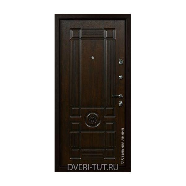 Дверь Цезарь дуб темный/золотой-дуб темный/золотой