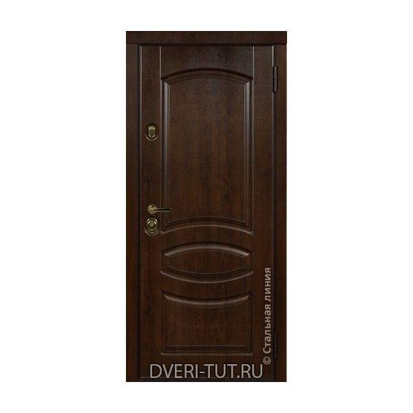 Дверь Herzog (Герцог) дуб темный-белый с золотой/серебряной патиной