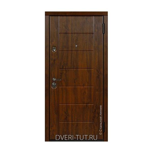Входная дверь Millenium (Миллениум) дуб золотистый-белый с стеклянными вставками.