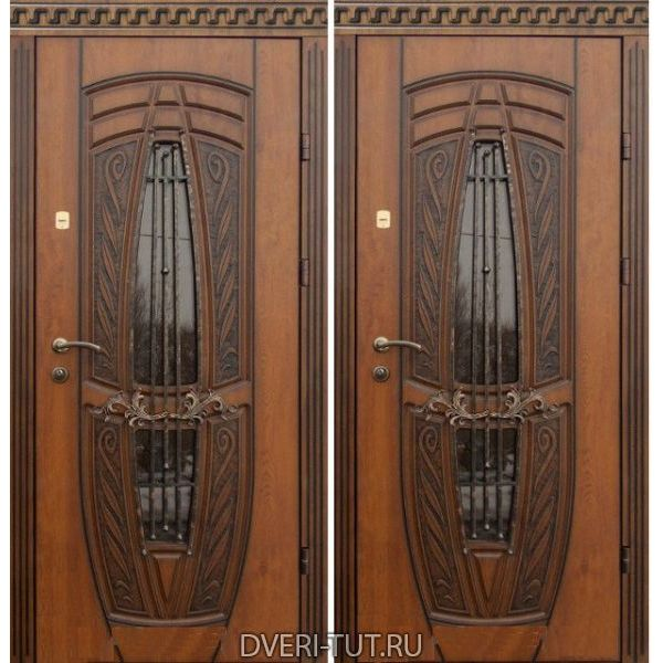 Входная дверь «Ла-Манш» дуб золотистый-дуб золотистый для дома