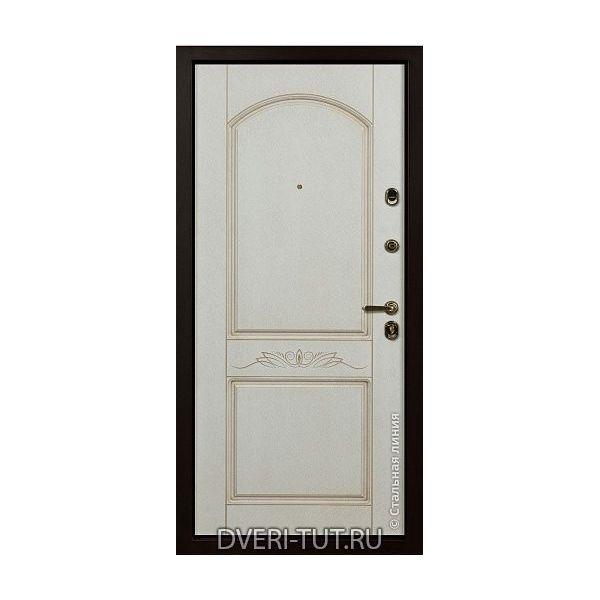 Входная дверь «Версаче» дуб золотистый-дуб золотистый патиной в квартиру и частный дом.