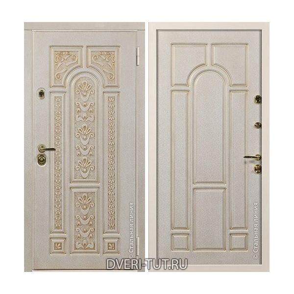Дверь Rafael (Рафаэль) белая с золотой патиной-белый с золотой патиной.
