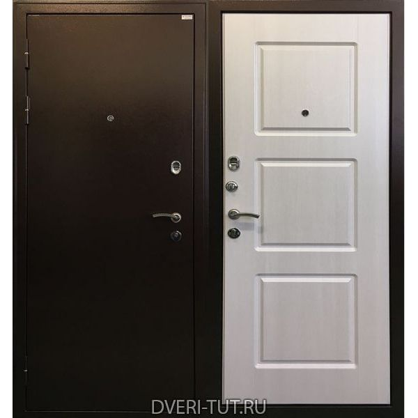 Дверь Трио антик медь-дуб беленый для квартиры