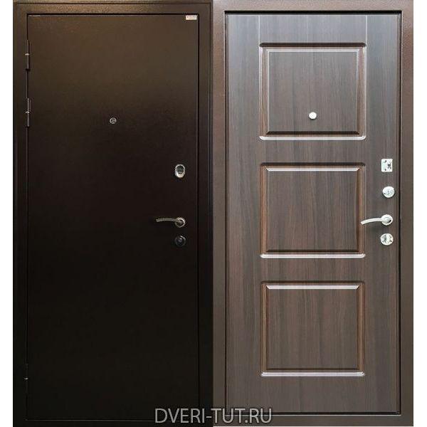 Дверь Трио антик медь-венге экошпон для квартиры