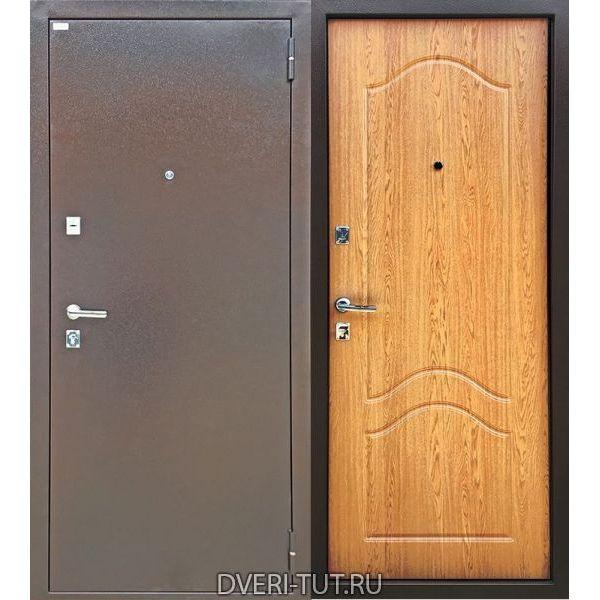 Дверь Новосел медный антик-дуб классический в квартиру