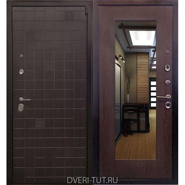 Дверь Силуэт эко венге-венге капучино с зеркалом