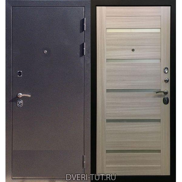 Входная дверь Ника антик серебро-сандал белый со вставками