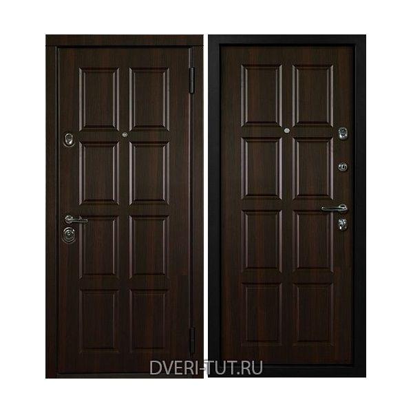 Входная дверь Oktavio (Октавио) орех темный-орех темный