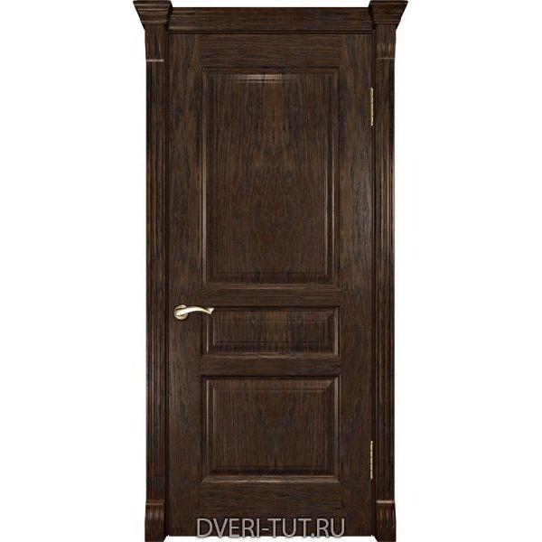 Дверь из массива дуба Валентия-2 ДГ мореный дуб (глухая)