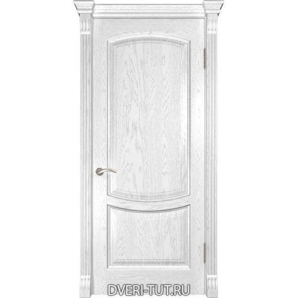 Дверь из массива дуба Лаура-2 ДГ дуб белая эмаль (глухая)
