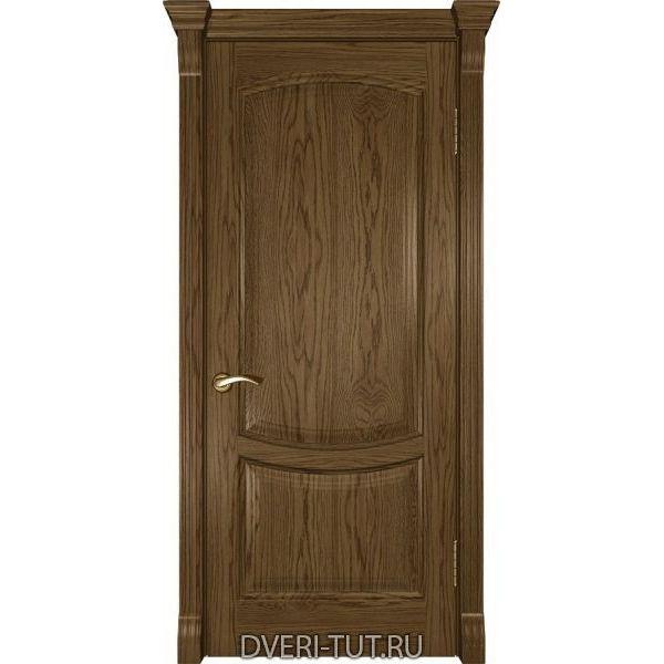 Дверь из массива дуба Лаура-2 светлый мореный дуб (глухая)