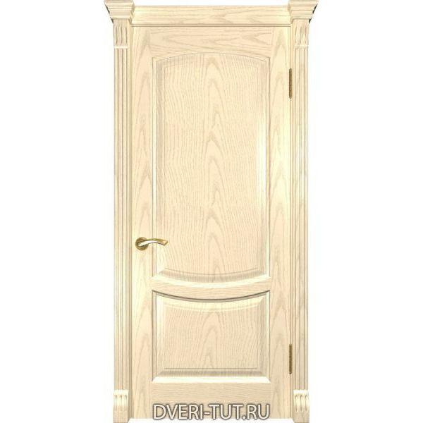 Дверь из массива дуба Лаура-2 слоновая кость (глухая)