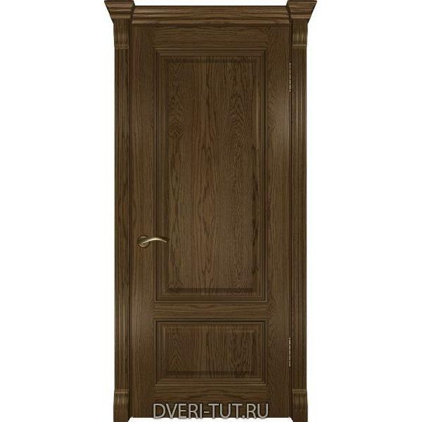 Дверь из массива дуба Фараон-1 ДГ светлый мореный дуб (глухая)