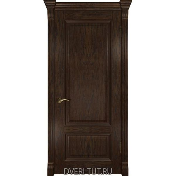 Дверь из массива дуба Фараон-1 ДГ мореный дуб (глухая)