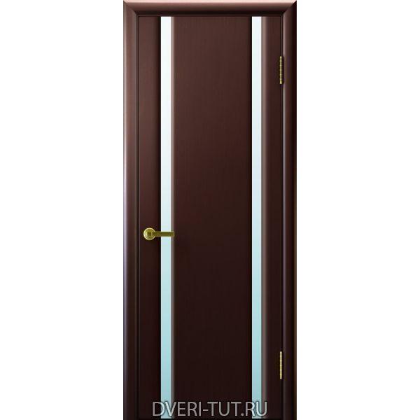 Дверь шпонированная Синай 2 ДО венге, два стекла белых триплекс