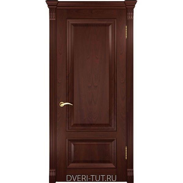 Дверь шпонированная Фараон-1 ДГ красное дерево (глухая)