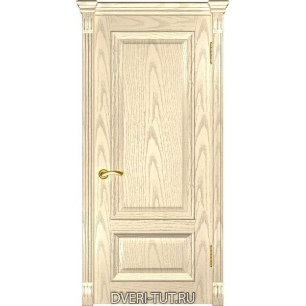 Дверь шпонированная Фараон-1 ДГ слоновая кость (глухая)