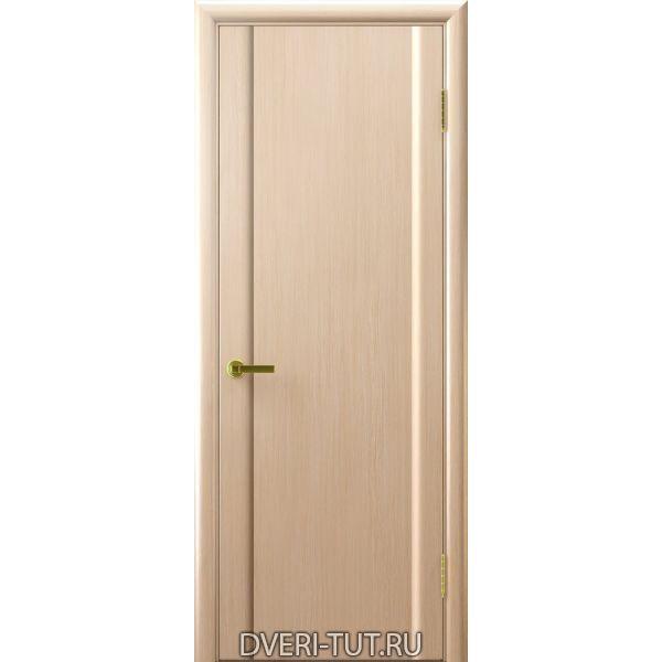 Дверь шпонированная Синай 3 ДГ белый дуб (глухая)