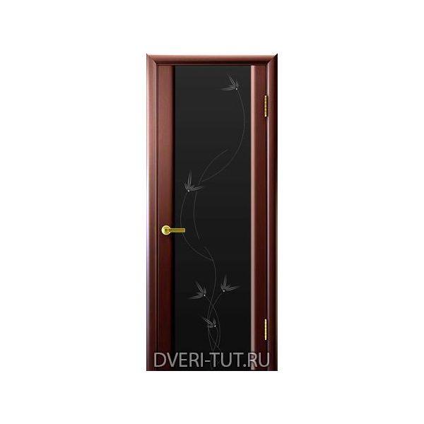 Дверь Глория 2 ДО шпон венге (стекло триплекс черное со стразами)