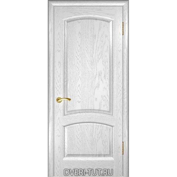 Дверь Лаура ДГ шпон дуба белая эмаль (глухая)