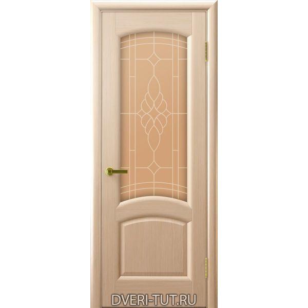 Дверь Лаура ДО шпон беленый дуб (со стеклом)