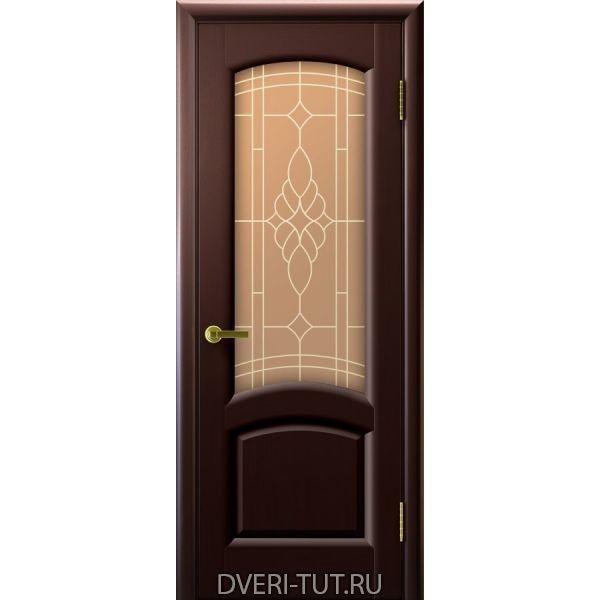 Дверь Лаура ДО шпон венге (со стеклом)