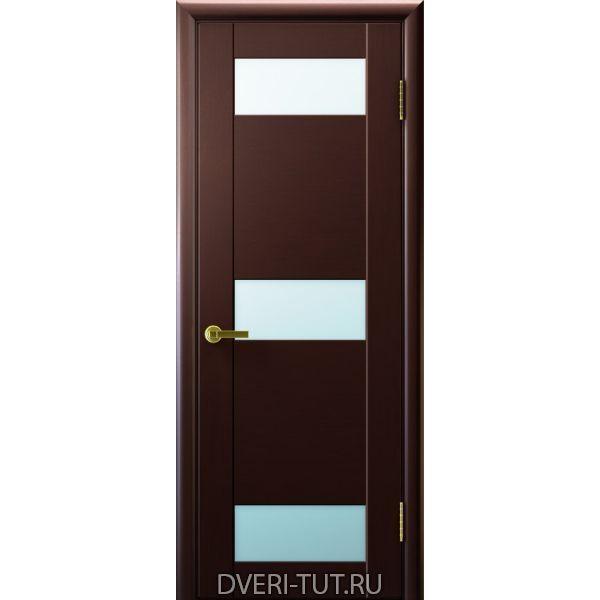 Дверь Хеопс ДО шпон венге, стекло белое