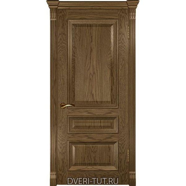 Дверь Фараон-2 ДГ шпон светлый мореный дуб (глухая)