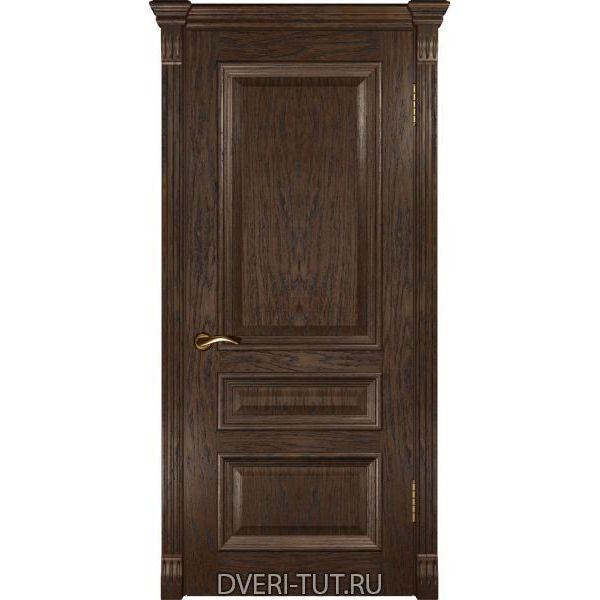 Дверь Фараон-2 ДГ шпон мореный дуб (глухая)
