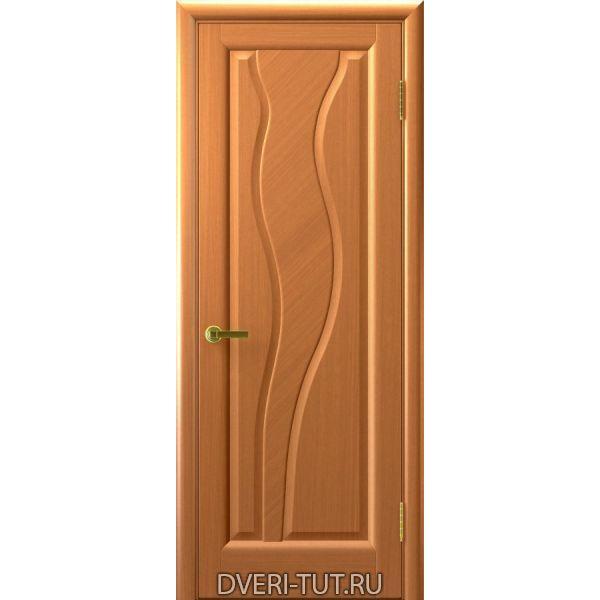 Дверь Торнадо ДГ шпон светлый анегри тон 34 (глухая)