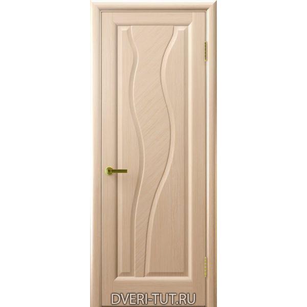 Дверь Торнадо ДГ шпон беленый дуб (глухая)