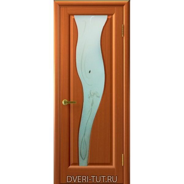 Дверь Торнадо 2 шпон темный анегри тон 74 (со стеклом)