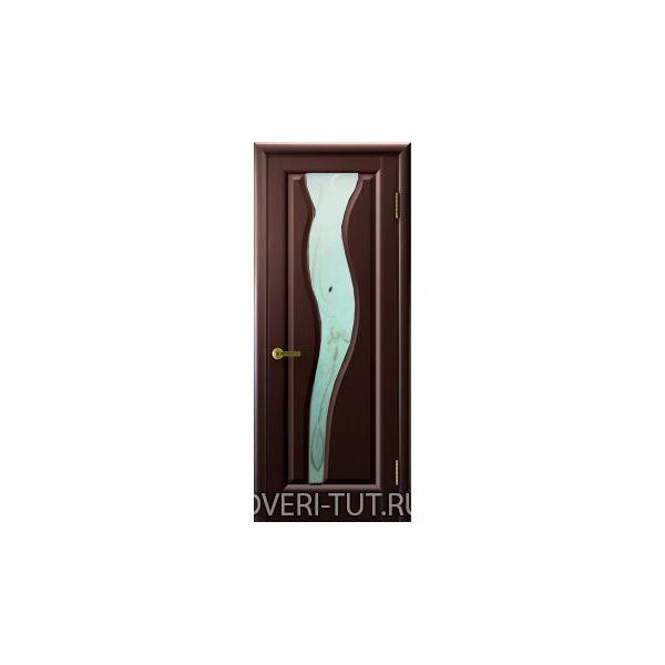Дверь Торнадо 2 ДО шпон венге (со стеклом)
