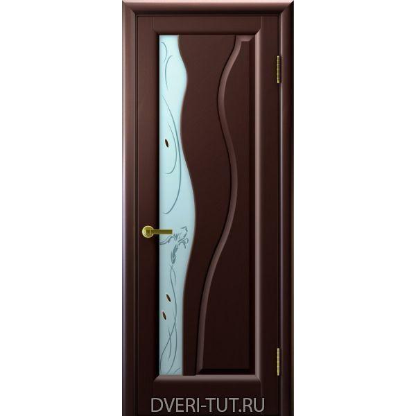 Дверь Торнадо ДО шпон венге (со стеклом)