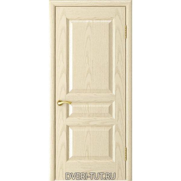 Дверь Атлант-2 ДГ шпон ясень слоновая кость (глухая)
