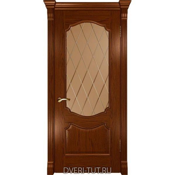 Дверь Венеция ДО шпон дуб сандал (со стеклом)
