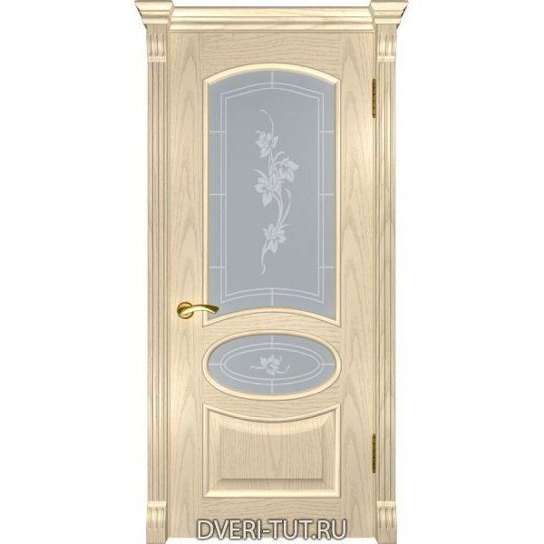 Дверь Грация ДО шпон ясень слоновая кость (со стеклом)