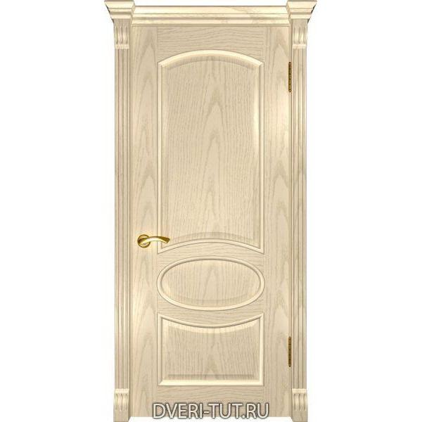 Дверь Грация ДГ шпон ясень слоновая кость (глухая)